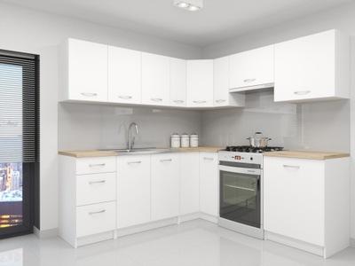 комплект кухонной мебели Атланта белое угловые СТОЛЕШНИЦУ