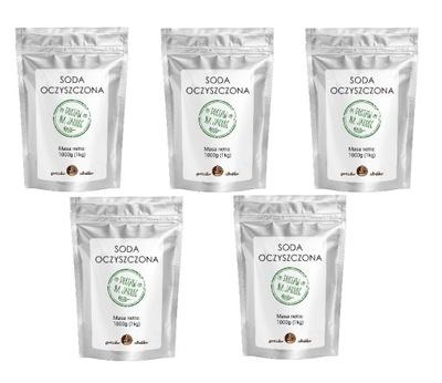 Пищевая СОДА бикарбонат натрия пакет 5x 1кг