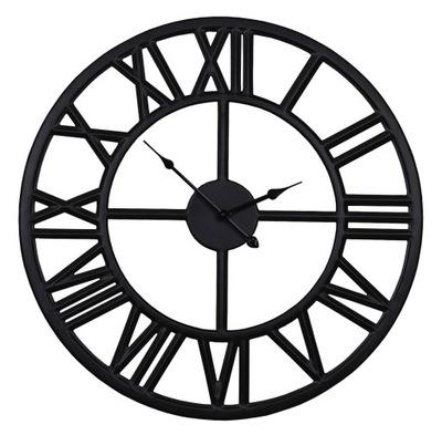 часы чердак lofowy Черный ретро металлический современный