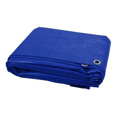 PLANDEKA OKRYCIOWA 6x12 Niebieska ZABEZPIECZJĄCA