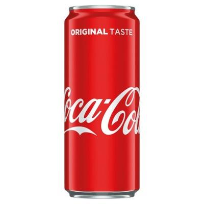 Coca Кола в банке 330 мл банка