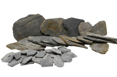 Skała Slate Smooth Stone Kamienie do Akwarium 1kg