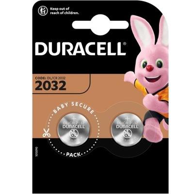 2 x Bateria litowa DURACELL CR2032 3V 2032 Lithium