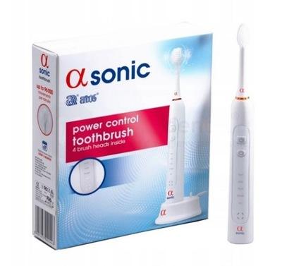 Alfa Sonic Szczoteczka Soniczna + 4 Końcówki Biała