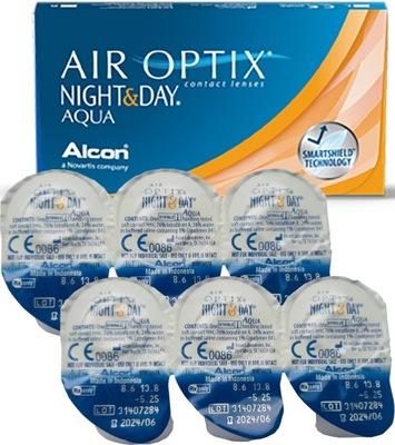 AIR OPTIX Night & Day Aqua 6szt miesięczne