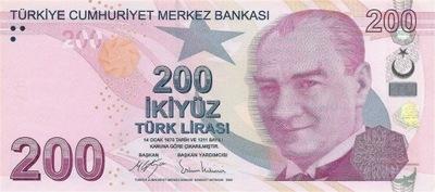 Турция 200 Лира 2009 P-227c UNC