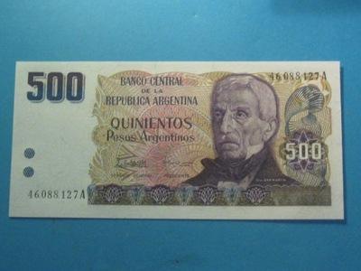 Аргентина Банкнота 500 Песо  ! 1984 UNC P-316