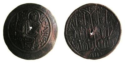 7824. Венгрия БЕЛА III (1172-96) DENAR С ОТВЕРСТИЕ 28 мм