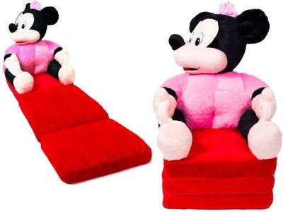 Rozkładany fotelik z pluszu XXL myszka na prezent