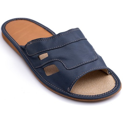 pantofle domowe męskie kapcie skórzane letnie
