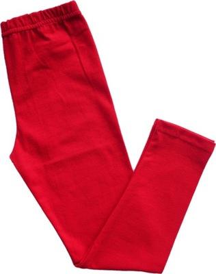 Getry legginsy czerwone bawełna AIPI 134