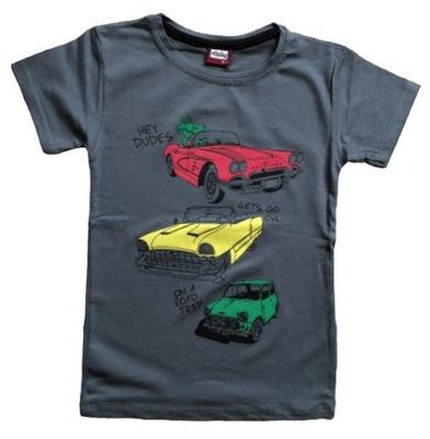 Koszulka ATUT krótki rękaw t shirt Mięt Żyrafa 122