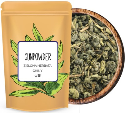 Zielona liściasta herbata GUNPOWDER AAA PREMIUM+++