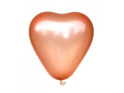 Balony serca różowe złoto 5 szt 30 cm