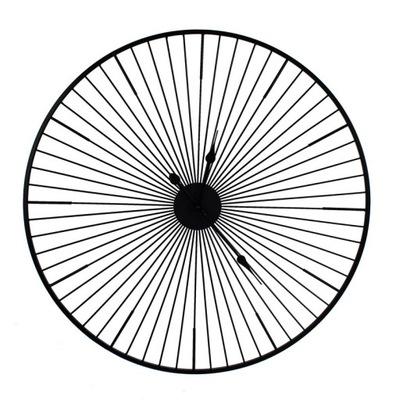 часы металлический чердак современный Черный без цифр 80