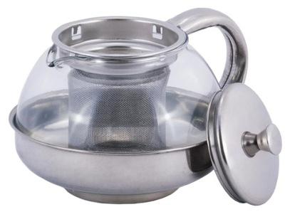 Dzbanek Zaparzacz do herbaty ziół szklany 800 ml