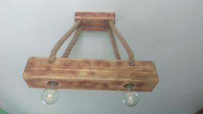 Lampa belka drewniana loft Ponte PND 4290 4 L