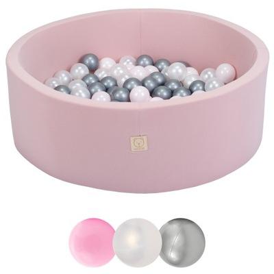 Suchy basen różowy piłkami piłeczkami kulkami 150