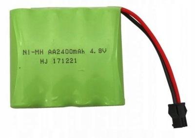 Akumulator Bateria 4.8V 2400mAh SM do POJAZDÓW RC
