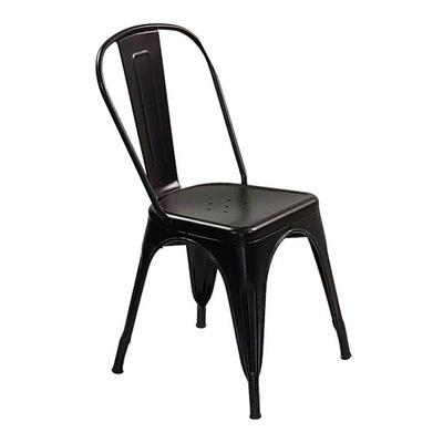 Krzesło metalowe Tolix czarne restauracja bar