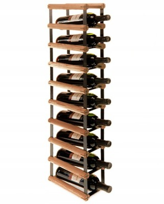 Stojak na wino RW-8 1x9 regał olejowany 9 butelek