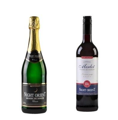 комплект вино Ноль % + вино Игристое Ноль %, БЕЗАЛКОГОЛЬНЫЕ напитки