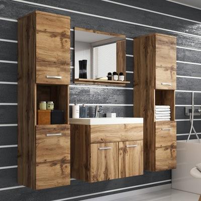 Мебель для ванной комнаты зеркало тумба умывальник 2x столбик