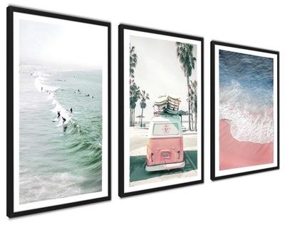 Plakaty obrazy w ramach nowoczesny Zestaw XXL róż