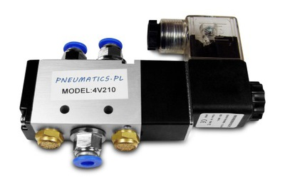Электромагнитный клапан цилиндров 5 /2 4V210 1 /4 + фитинги
