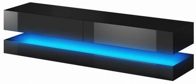 Тумба RTV подвесной светильник стол 140 см Черный мат /блеск