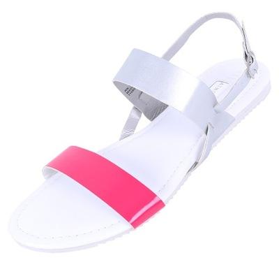Różowo-srebrne sandały PRIMARK ATMOSPHERE 37 EU