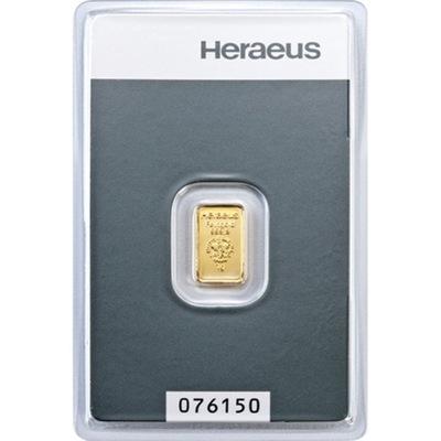 Złota Sztabka Inwestycyjna Heraeus 1g