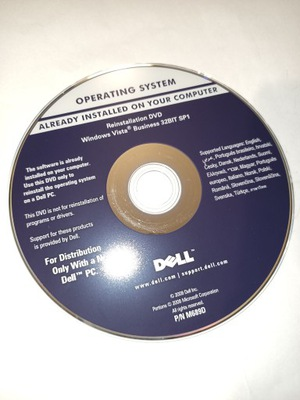 Windows Vista Business PL SP1 Dell nośnik płyta