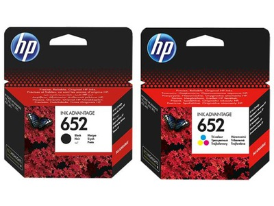 ZESTAW TUSZ HP 652 CZARNY F6V25AE + KOLOR F6V24AE