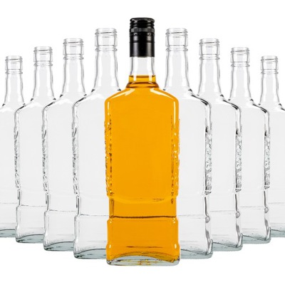 40x Butelka MOSKWA 700ml na WHISKY WÓDKĘ +ZAKRĘTKI