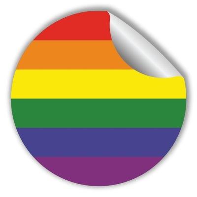 Naklejki - Tęcza LGBT - 100 sztuk