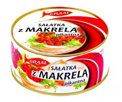 Салат из скумбрии пикантный 300г Грааль 3 штук