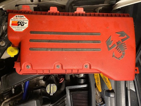 Osłona filtra powietrza filtr KN Fiat abarth USA