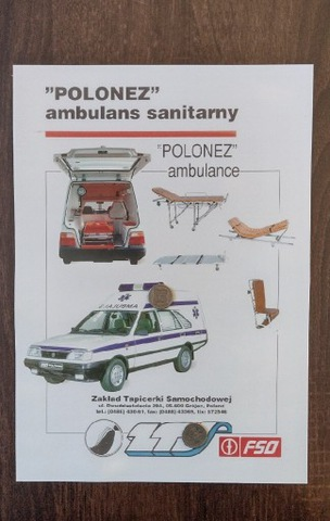 Prospekt POLONEZ Ambulans LTS Caro FSO UNIKAT