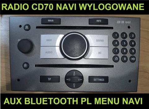 РАДИО CD70 NAVI WYLOGOWANE AUX PL МЕНЮ BLUETOOTH