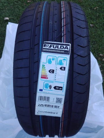 4 X ШИНА LETNIA 225/45R18 FULDA SPORTCONTROL2