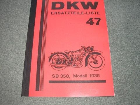 DKW SB 350 (1936) - KATALOG ЗАПЧАСТИ