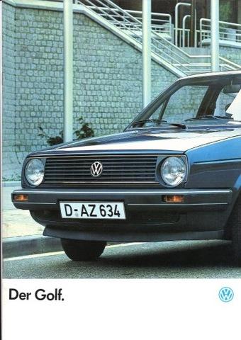 VW GOLF - prospekt 1986