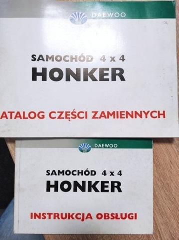 KATALOG ЗАПЧАСТИ ZAMIENNYCH + ИНСТРУКЦИЯ  HONKER 4X4