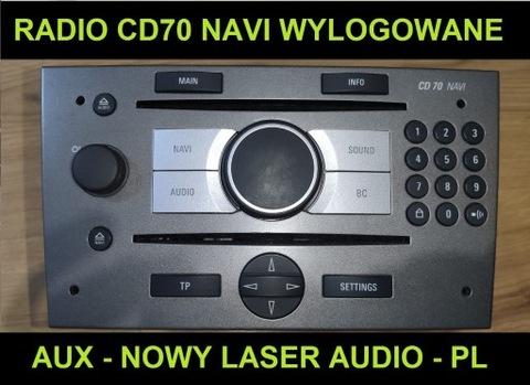 RADIO CD70 NAVI WYLOGOWANE AUX PL MENÚ NUEVO LASER