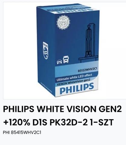 PHILIPS WHITE VISION GEN2 +120%