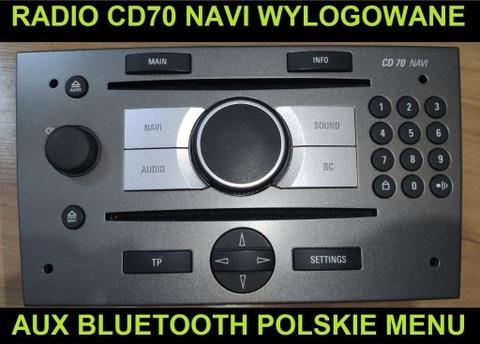 RADIO CD70 NAVI WYLOGOWANE AUX BLUETOOTH PL MENÚ