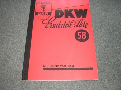 DKW NZ 250/350 - KATALOG ЗАПЧАСТИ