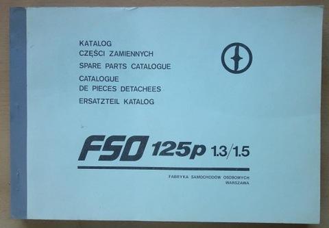 KATALOG ЗАПЧАСТИ ZAMIENNYCH FIAT 125P