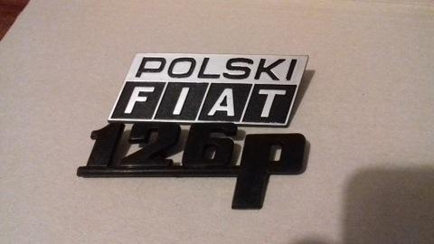 FIAT 126P ЭМБЛЕМА ЗНАЧОК ПОЛЬСКИЙ FIAT ST РЕСТАЙЛИНГ